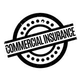 Commercial Insurance rubber stamp Stock Photos