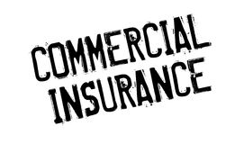 Commercial Insurance rubber stamp Stock Image