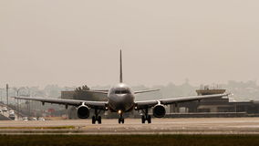 Commercial jet airliner on the runway Stock Image