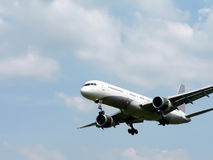 Commercial jet in flight 08 7 Stock Photography