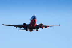 Commercial Jet landing Stock Photos