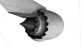 Commercial jetliner engine, technical, engineering.