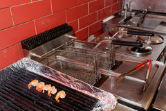 Commercial kitchen equipment Royalty Free Stock Images