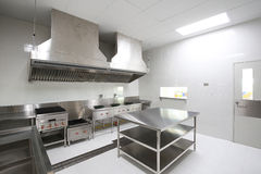Commercial kitchen. Room with equipment Royalty Free Stock Photo