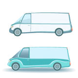 Commercial Land Vehicle  on white. Small commercial vehicle  on white background Royalty Free Stock Images