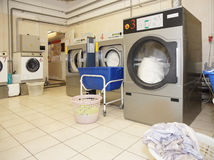 Commercial laundry interior Stock Photo
