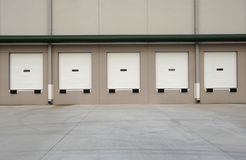 Commercial Loading Dock. Loading dock of a new commercial warehouse building Royalty Free Stock Photo