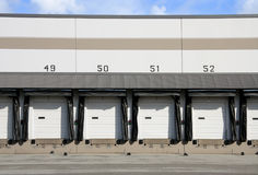 Commercial Loading Dock. Truck loading dock at warehouse stock photos