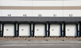 Commercial Loading Dock. Truck loading dock at warehouse stock images