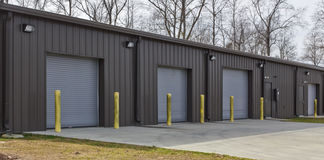Commercial Maintenance Building. A commercial building for maintaining vehicles, equipment, and other items stock image