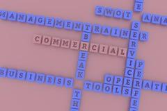 Commercial, mots croisé de mot-clé d'affaires Pour la page Web, la conception graphique, la texture ou le fond rendu 3d illustration de vecteur