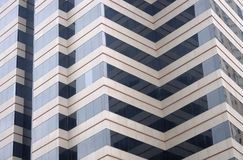 Commercial office building with zigzag design Stock Image