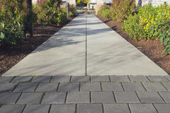 Commercial Outdoor Sidewalk Landscaping Royalty Free Stock Photography