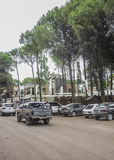 Commercial Park in Carilo Argentina Stock Image