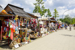 Commercial pavilions, sales of various souvenirs Royalty Free Stock Photo