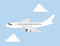 Commercial Plane Royalty Free Stock Photo