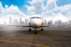 Commercial Plane At The Airport Royalty Free Stock Image