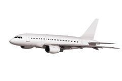 Commercial plane on white background Stock Images