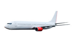Commercial plane. With white isolated background Royalty Free Stock Image
