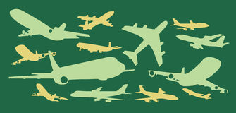 Commercial Planes Vector Design Clipart Stock Images
