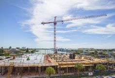 Commercial Plaza Construction royalty free stock photography