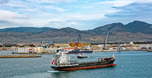 Commercial port of Castellon , Spain Stock Images