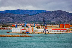 Commercial port of Castellon , Spain Royalty Free Stock Images