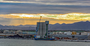 Commercial port of Castellon , Spain Stock Images
