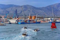Commercial port of Castellon, Spain Stock Photo
