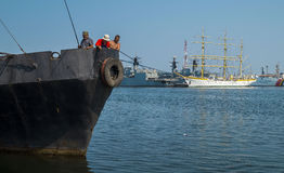 Commercial port of Constanta Stock Image