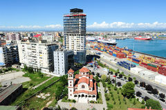 The commercial port of Durres Royalty Free Stock Photo