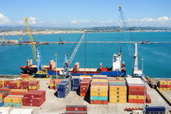 The commercial port of Durres Royalty Free Stock Image