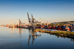 Commercial Port of Gdynia Stock Photos