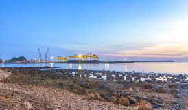 Commercial Port Royalty Free Stock Image