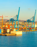 Commercial port, Italy Stock Images