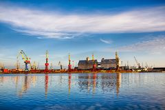 Commercial port in Kaliningrad Stock Photo