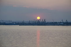 Commercial port in Kerch Stock Image