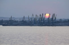 Commercial port in Kerch Royalty Free Stock Photography
