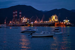 Commercial port in Montenegro Royalty Free Stock Photo