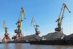 Commercial port Stock Image