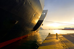 Commercial port Royalty Free Stock Images