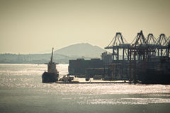 Commercial port Stock Images