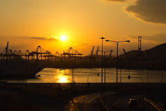 Commercial port Royalty Free Stock Photography