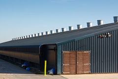 Commercial poultry farming building Stock Photo