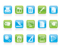Commercial print icons Stock Photography
