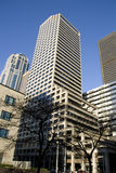 Commercial properties business buildings. Business buildings in downtown Seattle Royalty Free Stock Photos