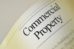 Commercial property - Headlines Stock Images
