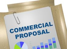 Commercial Proposal concept. 3D illustration of COMMERCIAL PROPOSAL title on business document Stock Photography