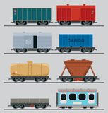Commercial railroad cars Stock Images