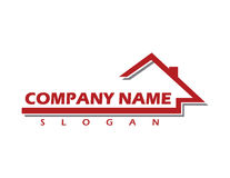Commercial real estate logo 2. Abstract building logo on white background Stock Photo